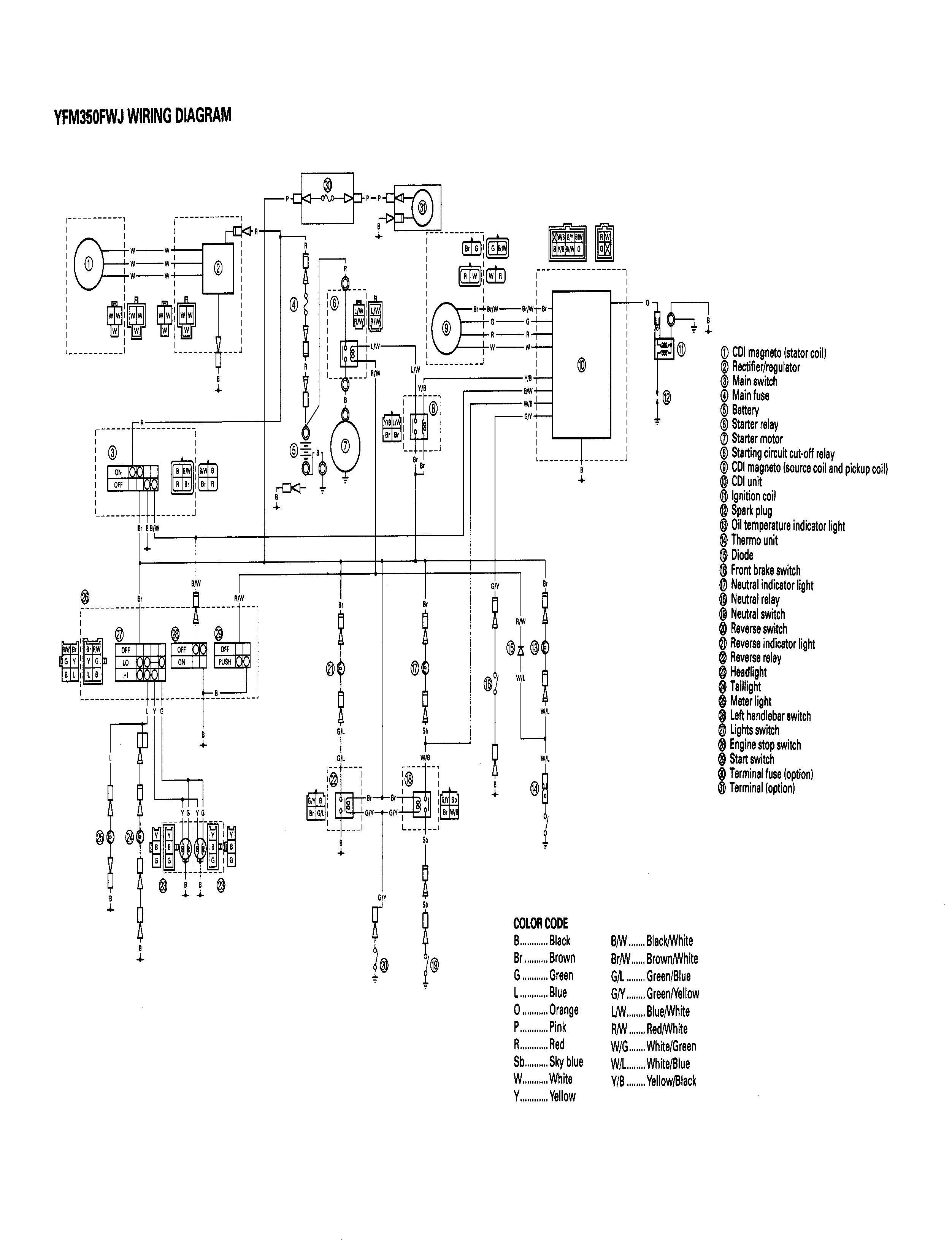01 Yamaha Big Bear Wiring Diagram