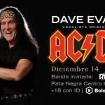 DAVE EVANS, EL VOCALISTA ORIGINAL DE AC/DC CIERRA GIRA POR MÉXICO EN PATA NEGRA