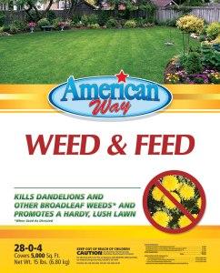 American Way Weed & Feed - 15 lbs