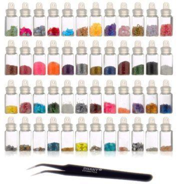 3D Nail Art Decorations, 48 Ct Mini Bottles With Nail Art Tweezer Just $5.68!