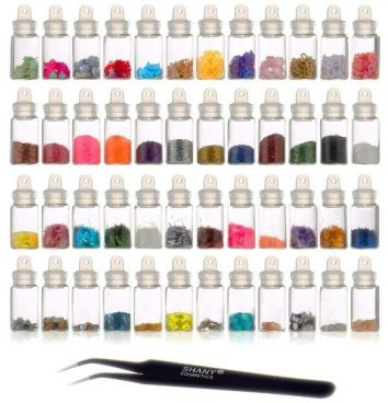 3D Nail Art Decorations, 48 Ct Mini Bottles With Nail Art Tweezer Just $5.68!