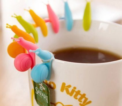 Snail Shape 5 Pc Silicone Tea Bag Holder Just $1.55! Ships FREE!