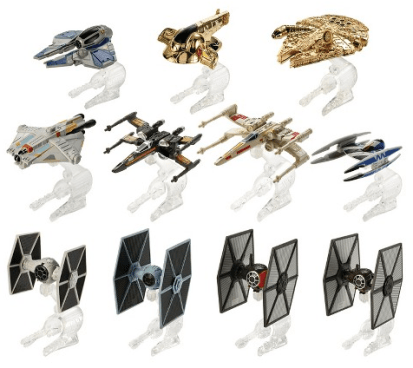 Hot Wheels Star Wars Hero & Villain Starships 11-Pack Just $25! (Was $50)