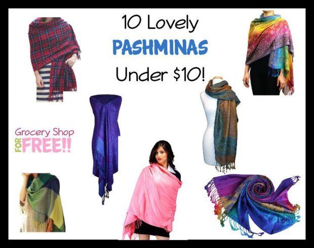 10 Lovely Pashminas Under $10!