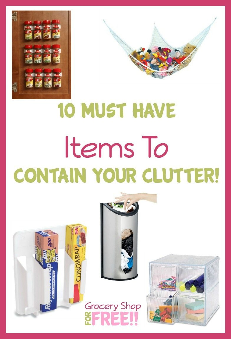 Clutteris the bane of my existence!Thereis never enough space. Andyou need extra storage that works right for you! Check out this list of 10 Must Have Items To Contain Your Clutter!