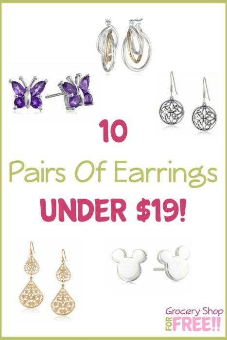 10 Pairs Of Earrings Under $19!