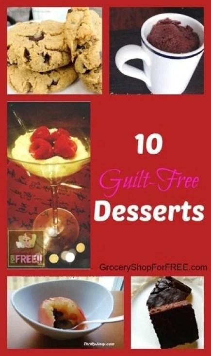 10 Guilt-Free Dessert Recipes!