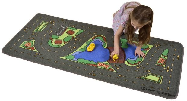 """Learning Carpets Drive Around The Park, 27"""" x 60"""" Just $13.81!  Down from $29.99!"""