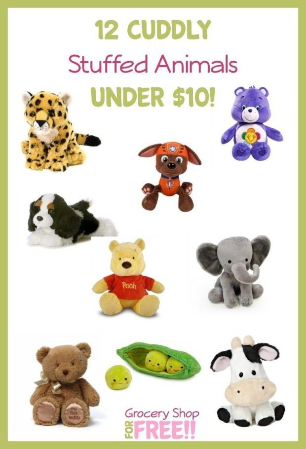 12 Cuddly Stuffed Animals Under $10!