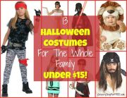 13 Halloween Costumes For THe Whole Family Under $15