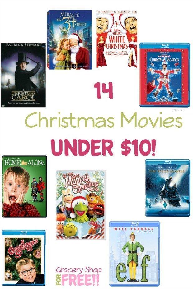 14 Christmas Movies Under $10!