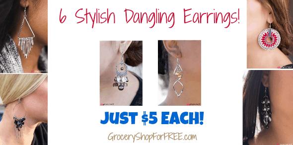6 Stylish Dangling Earrings Just $5 Each!