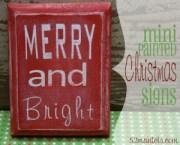 DIY Mini Christmas Signs!