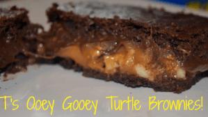 Ooey Gooey Turtle Brownies