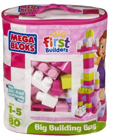 Mega Bloks First Builders Big Building Bag, 80-Piece Just $10.71! (reg. $19.99)