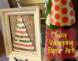 DIY Easy Wrapping Paper Art!