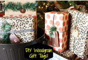 DIY Woodgrain Gift Tags!