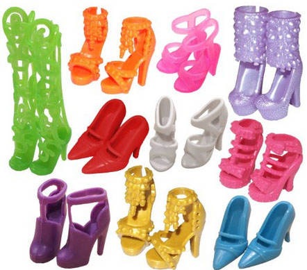 10 Pairs of Barbie Shoes Only $1.74 + FREE Shipping!