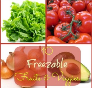10 Freezable Fruits And Vegetables!