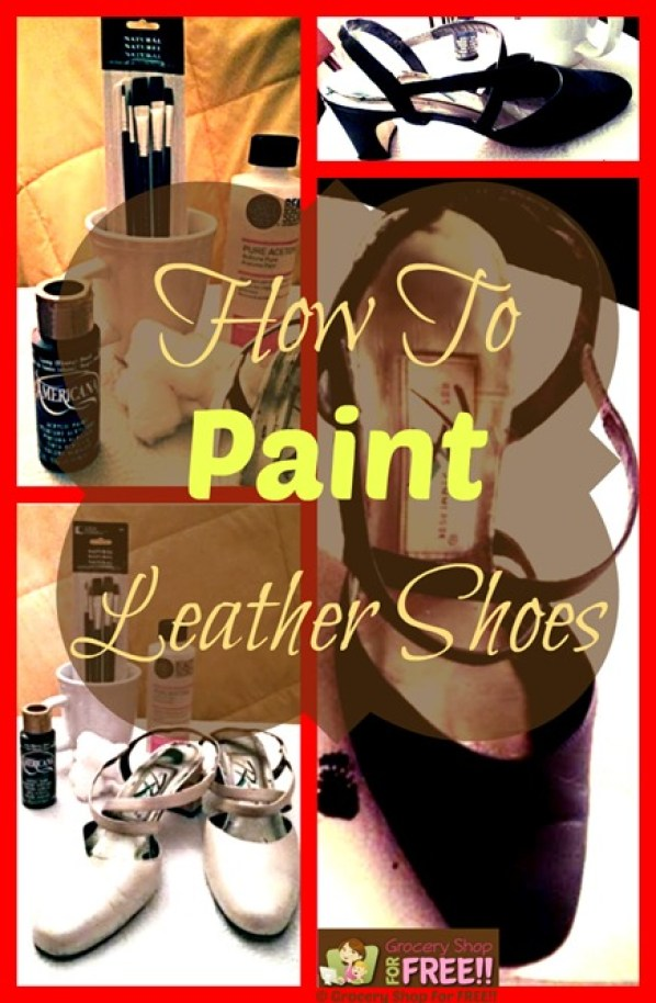 """Have you ever painted leather shoes before? Or painted any kind of leather? I had no idea how to paint leather and never even thought of it!  Acouple of weeks ago my daughter came and took a pair of my Mom's shoes to """"paint"""" them. I was pretty skeptical of the entire idea, but, she did a great job! So, here you go:"""