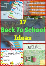 17 Back To School Ideas