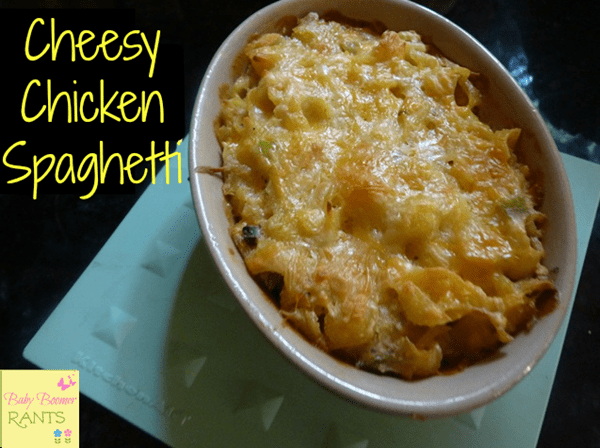 This Cheesy Chicken Spaghetti is a new family favorite that is cheap and easy to make.  My daughter-in-law brought it in to the family and we think it is a keeper!