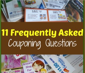 11 Frequently Asked Couponing Questions!