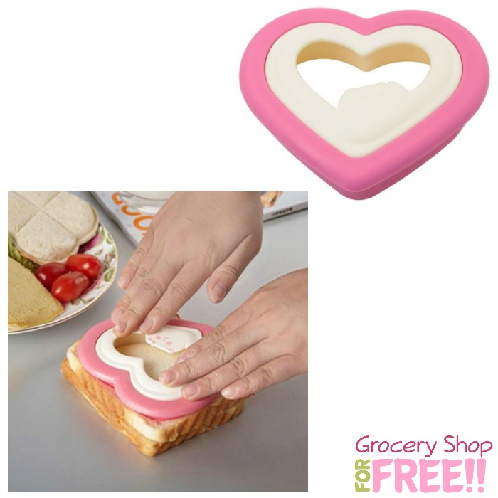 Valentine's Day Heart Shape Sandwich/Cookie Cutter $2.11 + FREE Shipping!