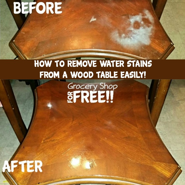 . How To Remove Water Stains Or Burns From A Wood Table Easily