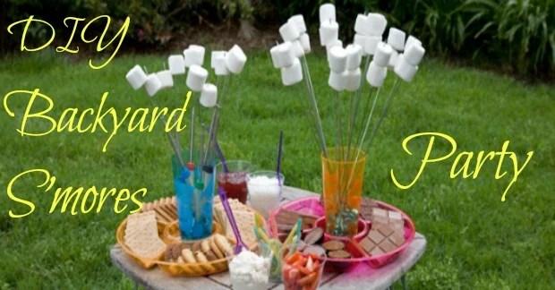 DIY Backyard S'mores Party