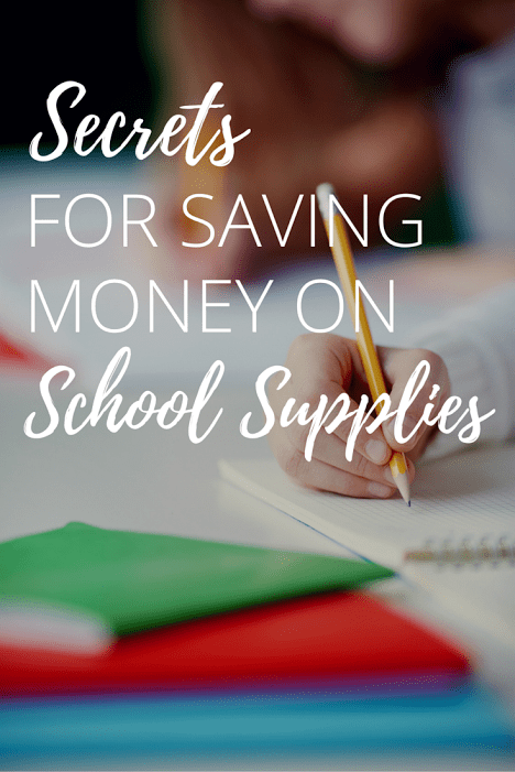 Secrets For Saving Money On School Supplies