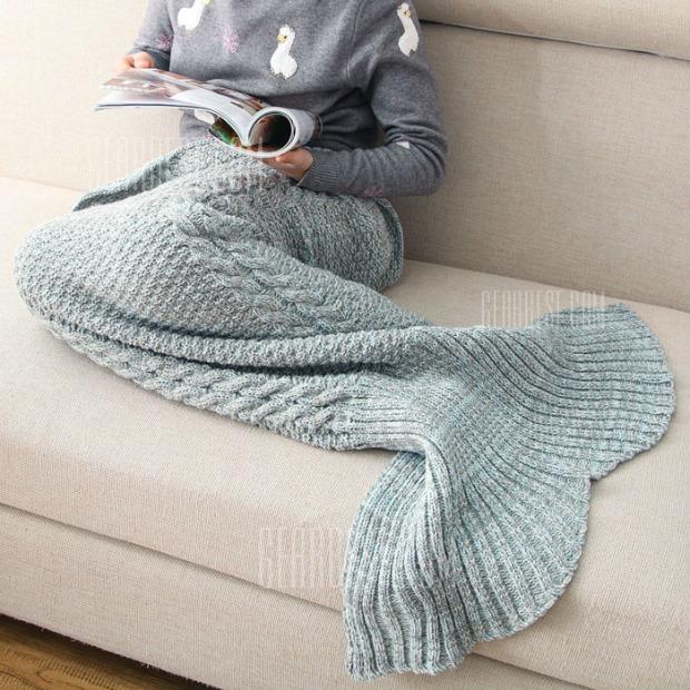 Mermaid Blanket Crocheted