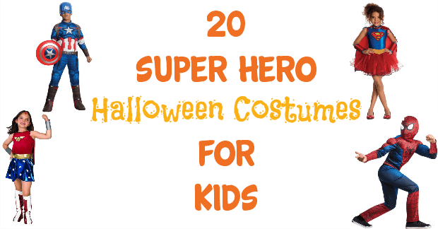 Looking for less spooky and gory and more cute and fun for your kids' Halloween costume?  Check out this list of 20 Super Hero Costumes for kids!  They are too cute!
