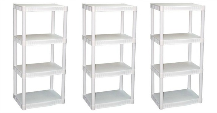 Plano 4-Tier Heavy-Duty Plastic Shelves Just $14.97! Down From $34.32!