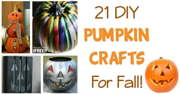 21 DIY Pumpkin Crafts For Fall!