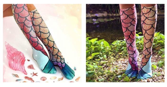 Knee High Mermaid Socks Just $7.99! Down From $20! Pre-order!