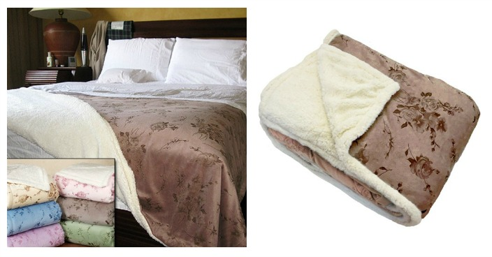 Northpoint Rosette Heavyweight Sherpa Blanket Just $29.99! Down From $120! Ships FREE!