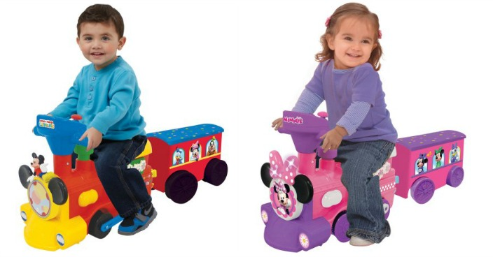 Mickey Or Minnie Mouse Battery-Powered Train Just $39! Down From $79!