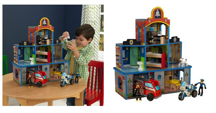 KidKraft Fire Rescue Station Play Set Just $44.49! Down From $100!