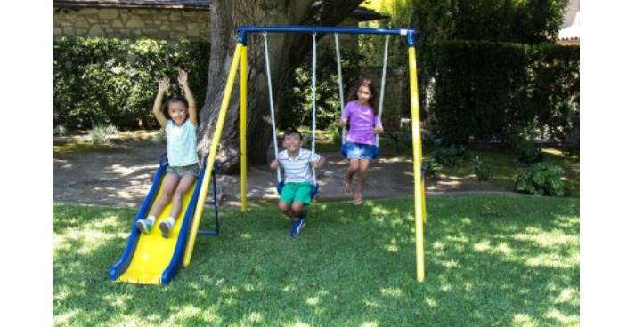 Sportspower Power Play Time Metal Swing Set Just $59! Down From $99!