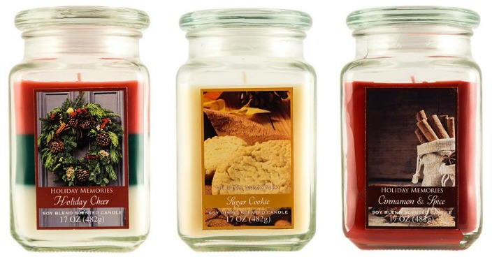 Holiday Memories Large Jar Candles Just $3.42! Down From $12!