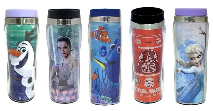Disney or Star Wars Travel Mugs Only $3.49! Down From $15!