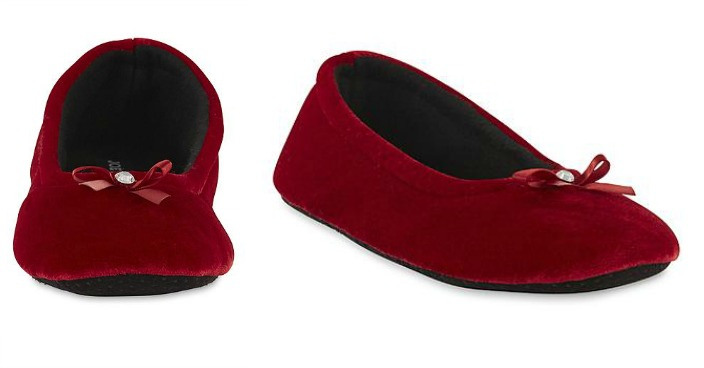 FREE Joe Boxer Women's Red Ballet Slipper!