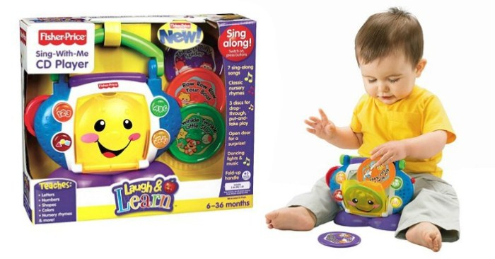 Laugh & Learn Sing-With-Me Toy CD Player Only $12.59! Down From $35!