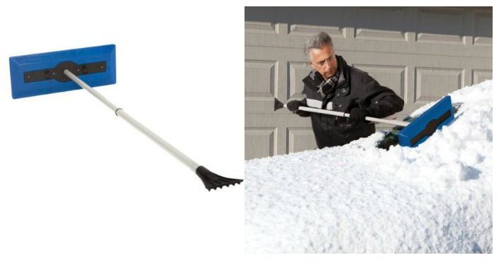 Telescoping Snow Broom With Ice Scraper Just $12.99! Down From $19!
