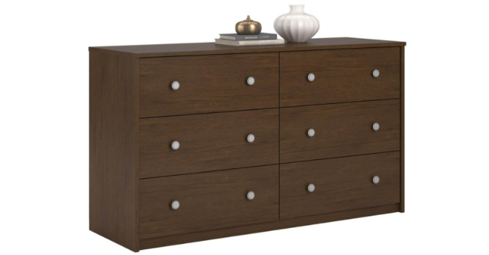 Essential Home Belmont 6-Drawer Dresser Only $19.20! Down From $130!