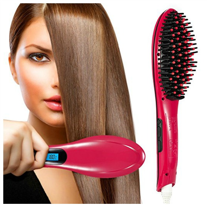 Oak Leaf Hair Straightening Brush Just $16.99! Down From $80!