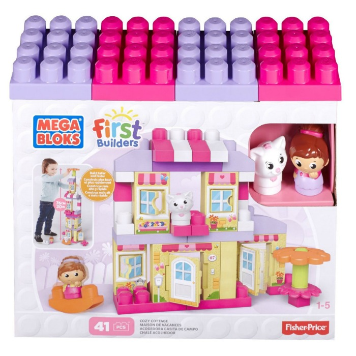 Mega Bloks First Builders Cozy Cottage Building Set Just $23.39! Ships FREE!