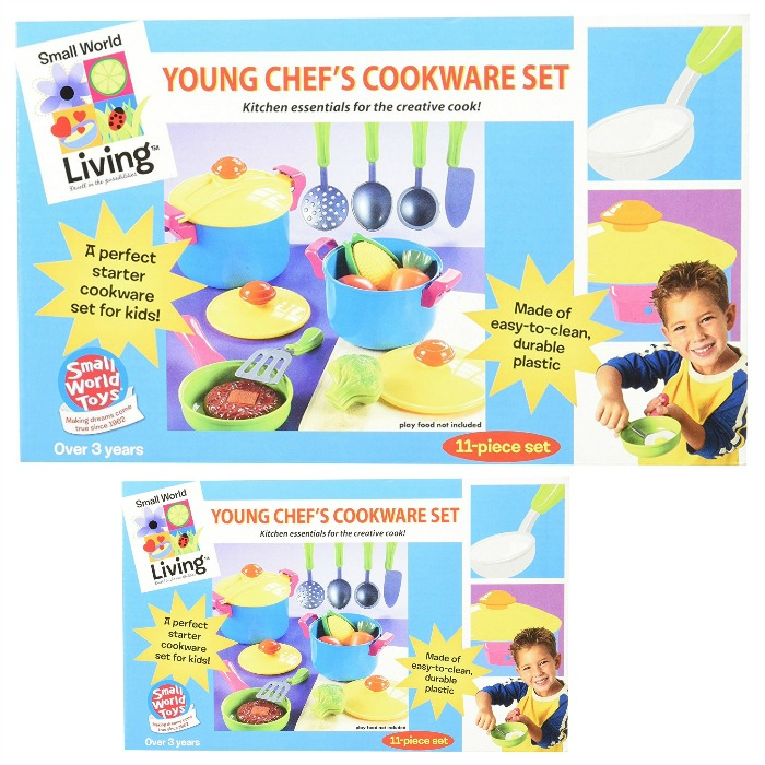 Small World 11 Piece Young Chef Cookware Set Just $4.49! Down From $24!