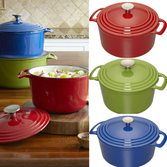 Cooks 3½-qt. Enameled Cast Iron Dutch Oven Just $17.99! Down From $120! Limited Time Only!